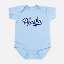 Alaska Blue Script VINTAGE Infant Bodysuit