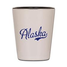 Alaska Blue Script VINTAGE Shot Glass