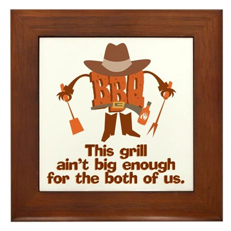 BBQ Gifts & T-shirts Framed Tile