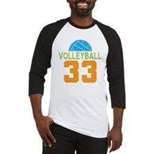 Volleyball player number 33 Baseball Jersey
