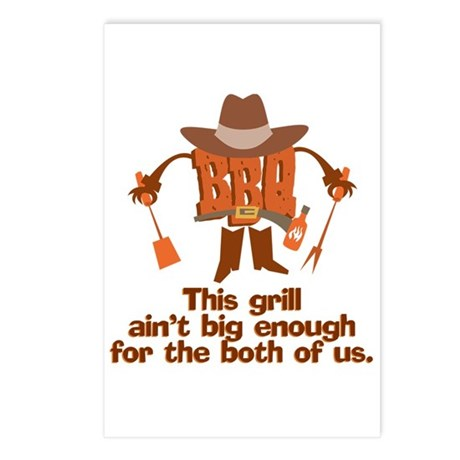 BBQ Gifts & T-shirts Postcards (Package of 8)