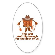 BBQ Gifts & T-shirts Oval Decal