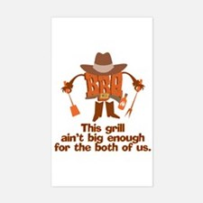 BBQ Gifts & T-shirts Rectangle Decal