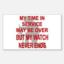 My Watch Never Ends 3 Decal