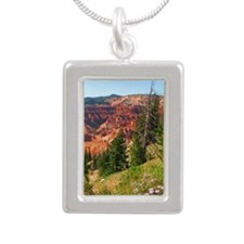 Cedar Breaks Utah Silver Portrait Necklace