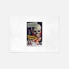 screaming skull 5'x7'Area Rug