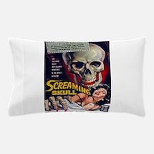 screaming skull Pillow Case