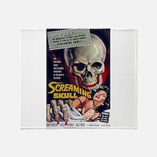screaming skull Throw Blanket