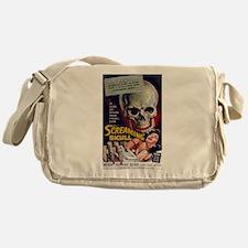 screaming skull Messenger Bag