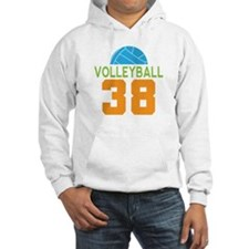 Volleyball player number 38 Hoodie