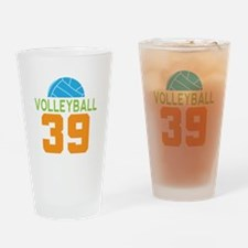 Volleyball player number 39 Drinking Glass