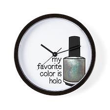 Silver Holo Wall Clock