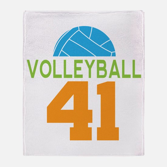Volleyball player number 41 Throw Blanket