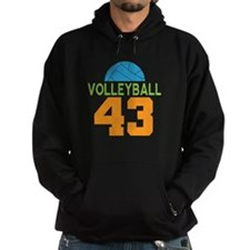 Volleyball player number 43 Hoodie