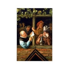 Jan Steen - Rhetoricians at the W Rectangle Magnet