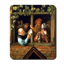 Jan Steen - Rhetoricians at the Window Mousepad