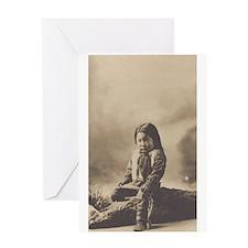 Cute Native children Greeting Card