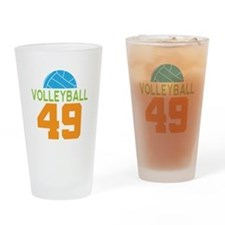Volleyball player number 49 Drinking Glass