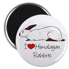 I Heart Himalayan Rabbits Magnets