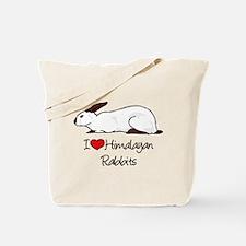 I Heart Himalayan Rabbits Tote Bag