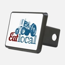 Eat Local Patriotic Hitch Cover