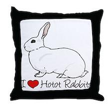 I Heart Hotot Rabbits Throw Pillow