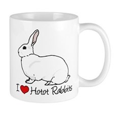 I Heart Hotot Rabbits Mugs