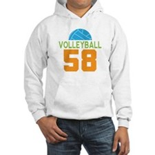 Volleyball player number 58 Hoodie
