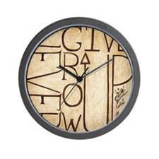 Never Give/Grow Up 2 Wall Clock