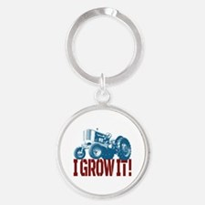 I Grow It Patriotic Round Keychain