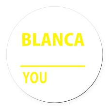 Unique Blanca Round Car Magnet