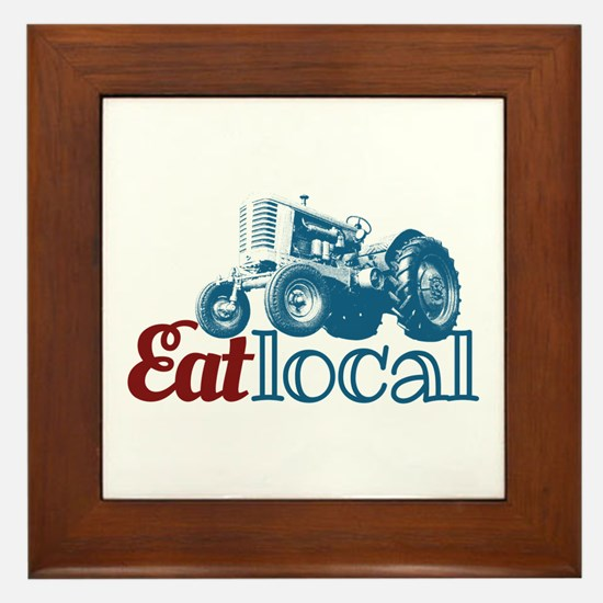 Eat Local Patriotic Framed Tile