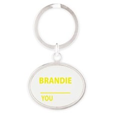 Cute Brandy Oval Keychain