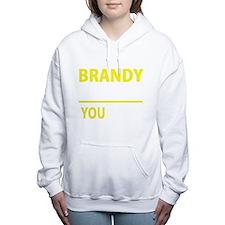 Funny Brandy Women's Hooded Sweatshirt