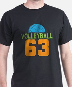 Volleyball player number 63 T-Shirt