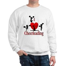 I Heart Cheerleading Sweatshirt