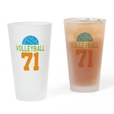 Volleyball player number 71 Drinking Glass