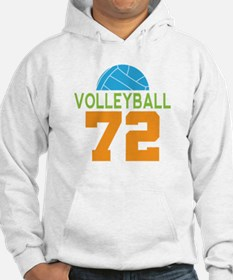 Volleyball player number 72 Hoodie