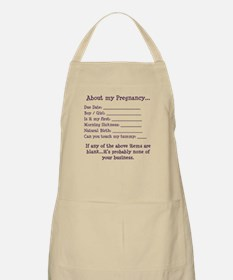 About My Pregnancy Fill-In Form BBQ Apron
