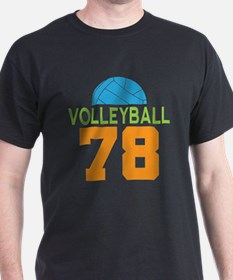 Volleyball player number 78 T-Shirt