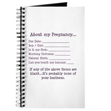 About My Pregnancy Fill-In Form Journal