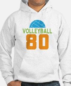 Volleyball player number 80 Hoodie