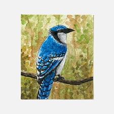 Bird 67 Blue Jay Throw Blanket