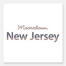 "Custom New Jersey Square Car Magnet 3"" x 3"""