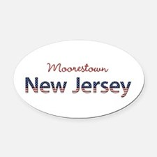 Custom New Jersey Oval Car Magnet