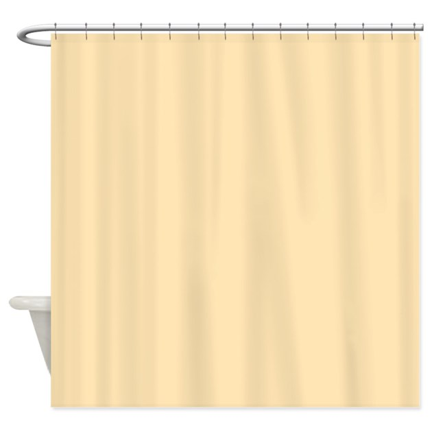 Solid Peach Shower Curtain By TheShowerCurtain
