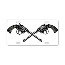 Western Crossed Guns Aluminum License Plate