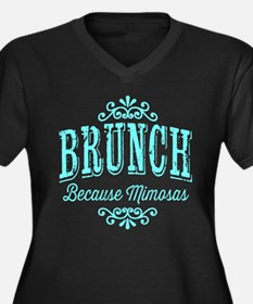 Brunch Because Mimosas Plus Size T-Shirt