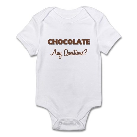 Chocolate Any Questions Infant Bodysuit