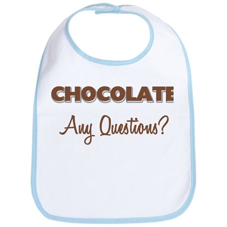 Chocolate Any Questions Bib
